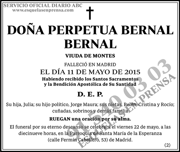 Perpetua Bernal Bernal